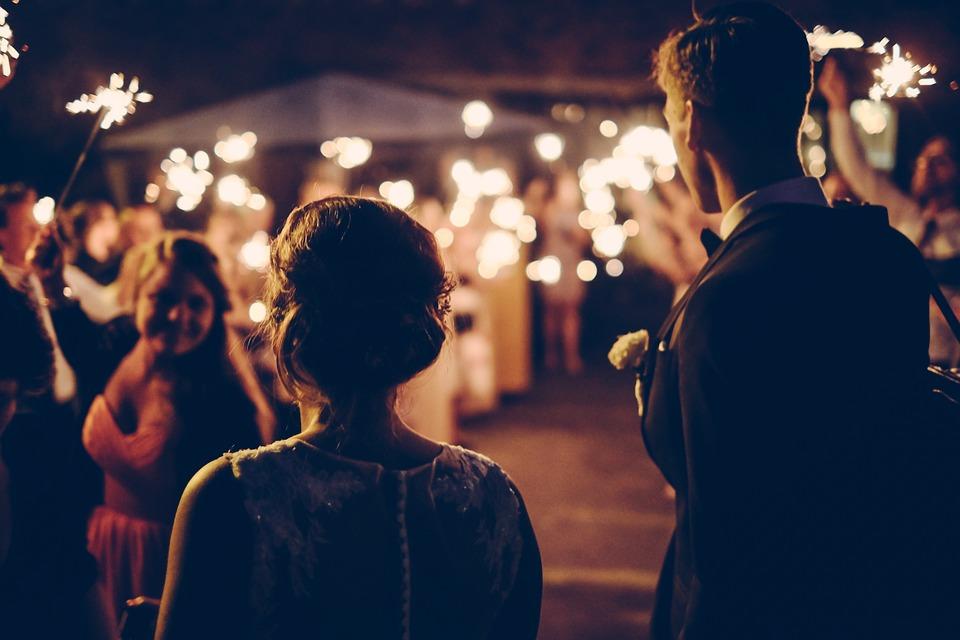 結婚式花火